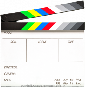Economy Laser Basic Clapperboard   Starting @ $10.00